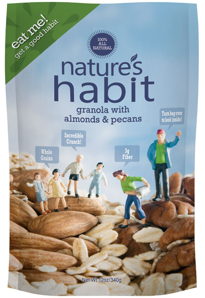 Granola with Almonds & Pecans 12oz. image for natures habit