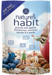Granola with Apples, Blueberries, Almonds, Pecans & 4 Seeds 12oz. image for natures habit