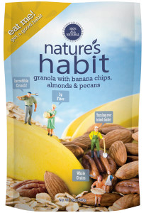Granola with Banana Chips, Almonds & Pecans 12oz. image for natures habit