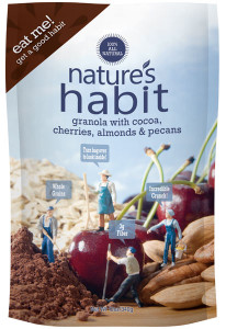 Granola with Cocoa, Cherries, Almonds & Pecans 12oz. image for natures habit