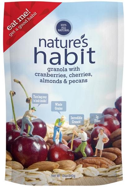 Granola with Cranberries, Cherries, Raisins, Almonds & Pecans 12oz. image for natures habit