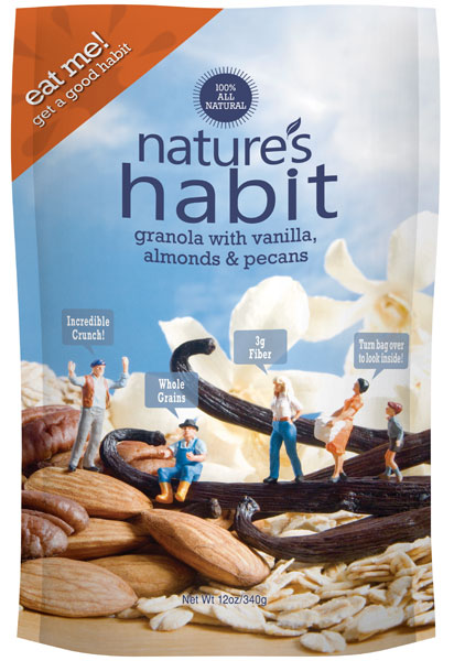Granola with Vanilla, Almonds & Pecans 12oz. image for natures habit