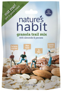 Granola Trail Mix with Almonds & Pecans 4oz. image for natures habit